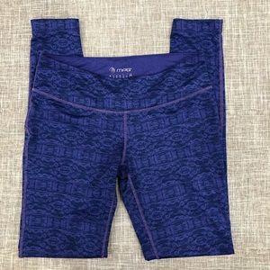 MPG purple print full length leggings small